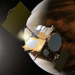 Artist's impression of Akatsuki in orbit around Venus