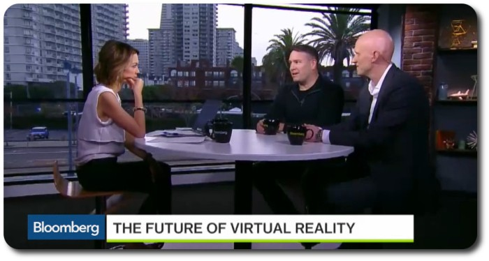 Emily Chang from Bloomberg Business discusses the future of VR with Ebbe Altberg and AltspaceVR CEO Eric Romo