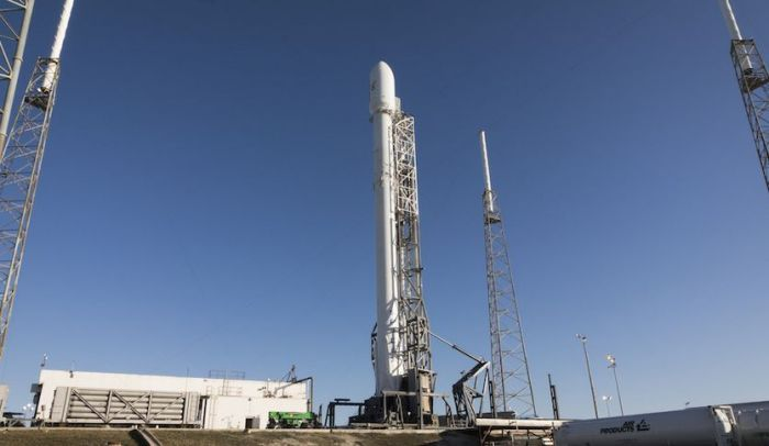The Falcon 9 will launch 11 communications satellites for Obitcomm
