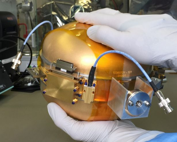 The mission critical vacuum sphere originally designed by CNES, and which kept failing tests, will now be replaced by a unit built by the Jet Propulsion Laboratory