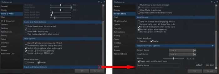The Sound and Media tab includes a sub-tab expansion option - a sign that expansion capabilities are to be added to the Preferences tab