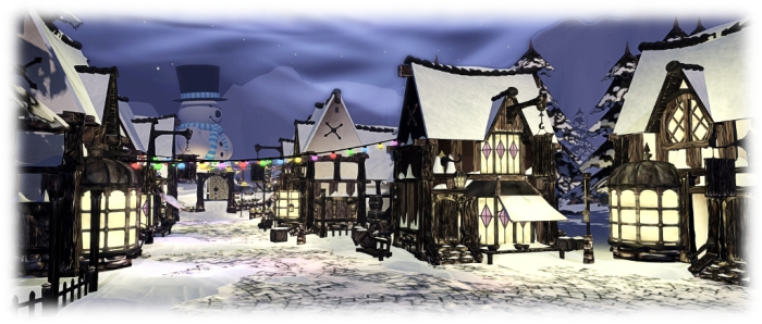 Winter Wonderland village