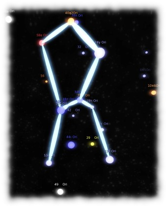You can link the major stars of a constellation to help better relate the display to how the stars appear to be aligned from Earth