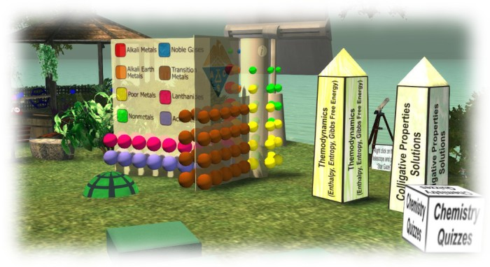 Texas A&M interactive learning environment demonstrating how Second Life can be used for teaching chemistry