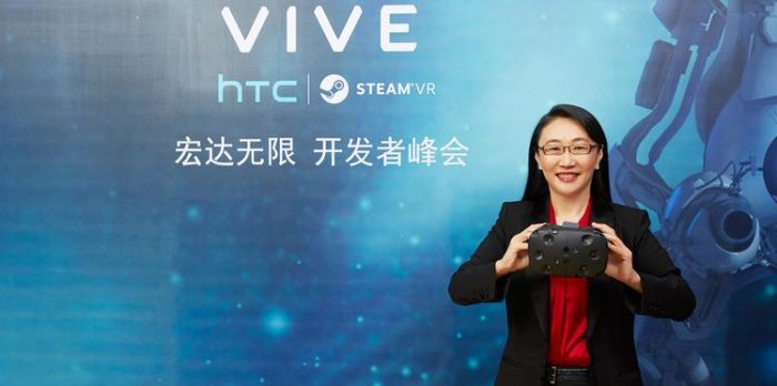 HTC Chairwoman Cher Wang: enthusiastic about VR, but not planning to split it into a separate entity.