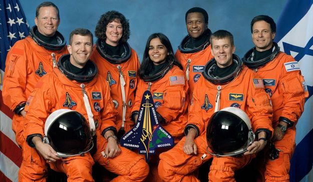 The official STS-107 crew photo (l-to-r): Brown, Husband, Clark, Chawla, Anderson, McCool, Ramon