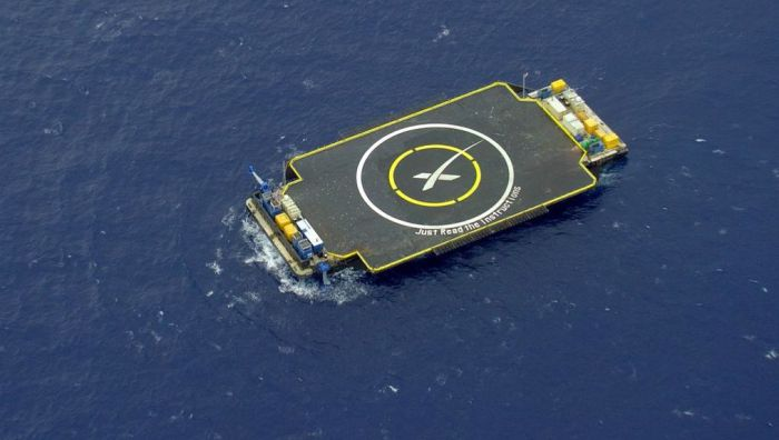 The SpaceX Droneship floating landing platform