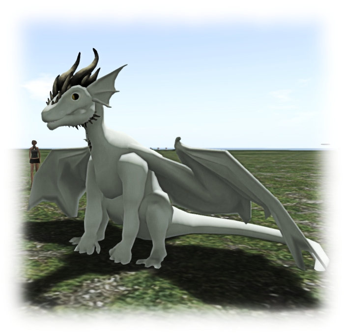 Flea Bussy's work-in-progress dragon avatar utilising the new wings and tails, etc., bones