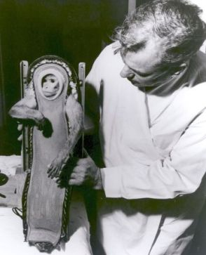 Sam, another rhesus macaque, took a sub-orbital flight in 1959 to test the Launch Abort system of the Mercury rocket. He survived the flight and lived until 1982