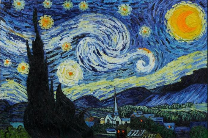 The Starry Night, part of the permanent collection at the Museum of Modern Art, New York City