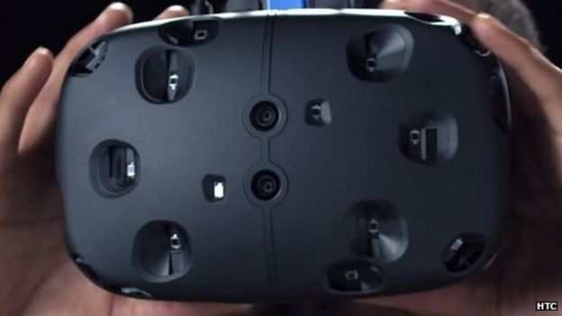 The Vive Pre features a central, front mounted pass through camera system (image: HTC)