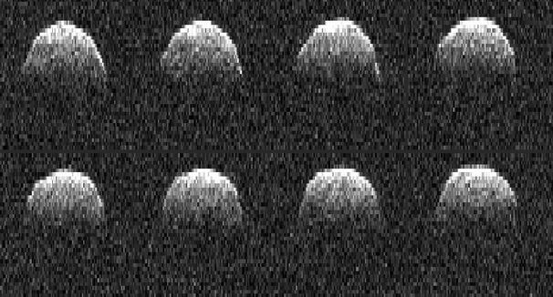 Asteroid 101955 Bennu, formerly known as 1999 RQ36, as seen in a series of radar images from the Goldstone radio dish in Goldstone, California in 2010, the last time the asteroid's orbit around the Sun brought it close to Earth (the next will occur in 2016) - image: NASA