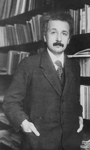 Albert Einstein in 1916, when he was formulating his General Theory of Relativity