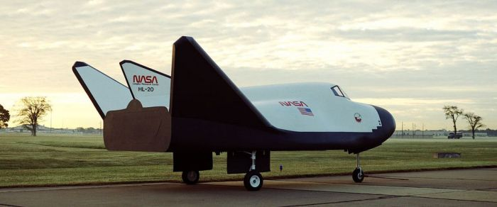 NASA Langley built a full-scale mock-up on the HL-20 in 1990. In it, Dream Chaser's heritage can clearly be seen
