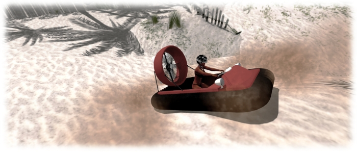 The Hovercraft 1.0 on land