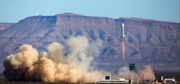 Blue Origin's New Shephard lifts-off on Saturday, April 2nd on a successful sub-orbital test flight which saw both capsule and propulsion module successfully recovered