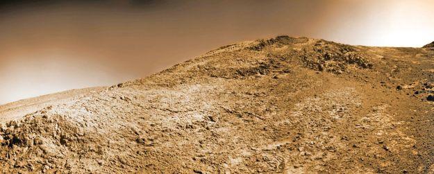Opportunity has been attempting to climb Knudsen Ridge inside Marathon Valley (credit: NASA/JPL / Cornell / Marco Di Lorenzo / Ken Kremer)