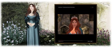 The Bard Queen will set you on your adventure via text and video (inset) - and you will be returning to her later (so LM her location for ease of finding!)