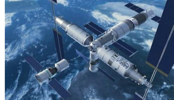China's space station, as it should look in 2022 (credit: China Manned Space Engineering)