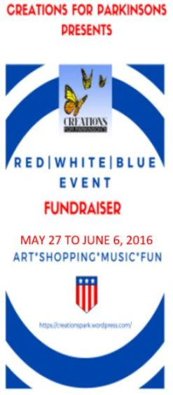 Red, White Blue Event Poster