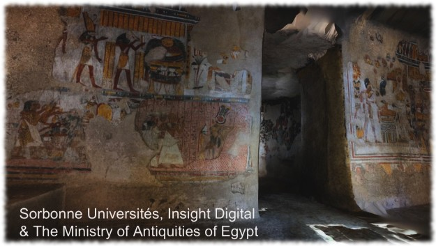 [05:52] The Sorbonne University and the Egyptian Ministry of Antiquities worked with Insight Digital to produce a 3D model of an ancient tomb based on digital photography and laser scanners. The initial 50 million polygon model, which the Lab were able to publish through Sansar as an optimised 40,000 polygon model visitors to the experience could visit and interact with and within