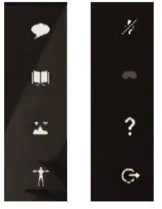 The UI icons in the video clips