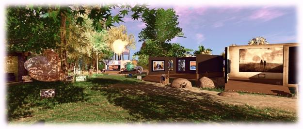 The current Art at the Park exhibition features work by Ceakay Ballyhoo, Eleseren Brianna, Slatan Dryke, JudiLynn India, Lantna Silverweb, and SisterButta
