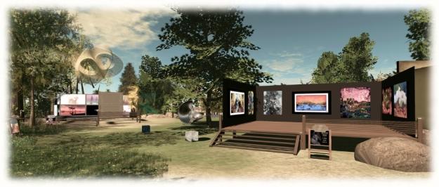 Art at the Park - JudiLynn India (foreground) and Slatan Dryke