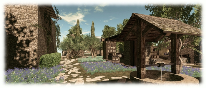 The garden and ruins are all pretty much on one level, with new paths and flowers, thanks to Alex Bader