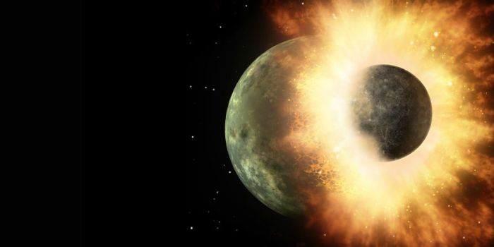 A joint Belgian-French-Japanese study has provided the strongest evidence yet for the Martian moons being the result of a massive collision between the planet and other object very early in the solar system's history