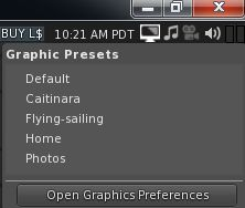 he quickest way to load a preset is via the Graphics Preset icon, which also allows you to open Preferences > Graphics