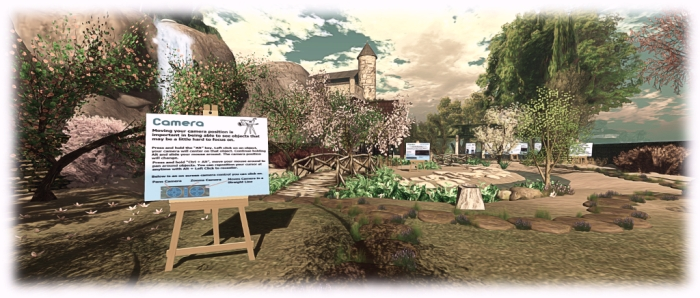 Helping Haven Gateway: the new user gateway provides newly-registered users with the esseentials of using the viewer as they progress through a garden to the rest of the region