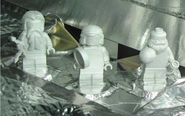The Lego figures of Jupiter, Juno and Galileo, as located on the Juno space craft. Credit: NASA