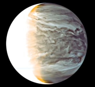 This image, captured by Japan's Akatsuki mission, shows the night side of Venus under infra-red imaging, revealing the complex interactions going on with the planet's clouds. Credit: JAXA