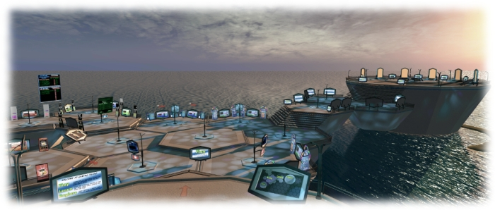 The new Gaming Islands - designed to introduce Second life users to Skill Gaming