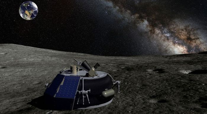 Artist's impression of Moon Express on the lunar surface. Credit: Moon Express