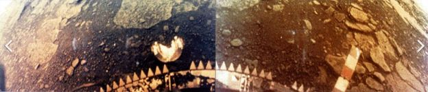 One of the rare approximate colour images of the surface of Venus, this one captured on March 1st, 1982 by Russia's Venera 13, which operating for 127 minutes on the surface of Venus - the longest time for any lander to date
