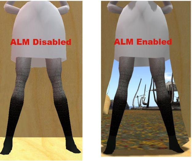 Alpha masking failure on attachments under ALM