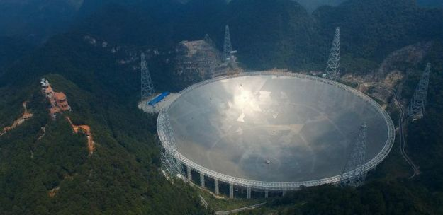 FAST was announced as being operational on Sunday, September 25th in nationwide news reports in China. Credit: CCTV
