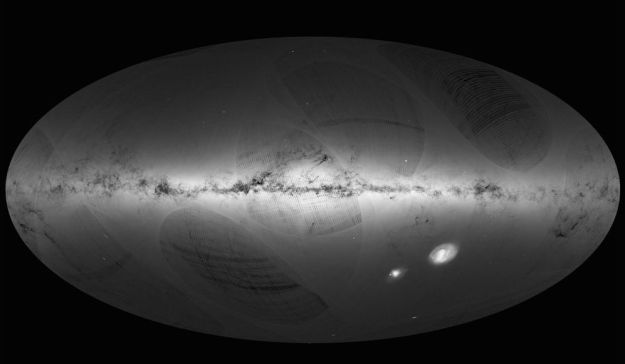 The first one billion: a billion stars in our galaxy mapped by distance and brightest - with a few extra-galactic objects shown for good measure