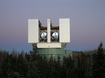 The Large Binocular Telescope, one of two instruments so far used in observing N6946-BH1