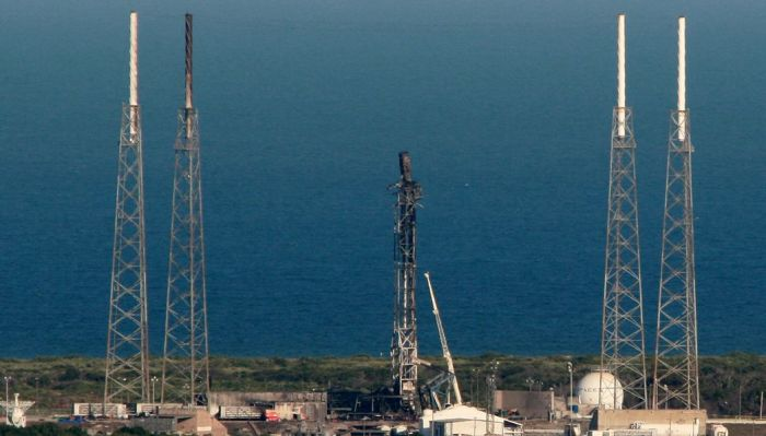Launch Complex 40, Canaveral Air Force Station, after the Loss of the Falcon 9 booster and payload on September 1st, 2016