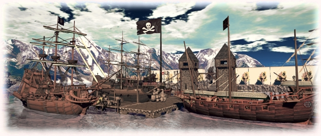 Pirate Sunday - The ships are in port!