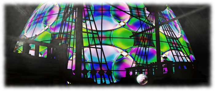Surreal Cube - The Egg: Hyde Hackl (with ghost ship in the foreground, added by Juliette SurrealDreaming)