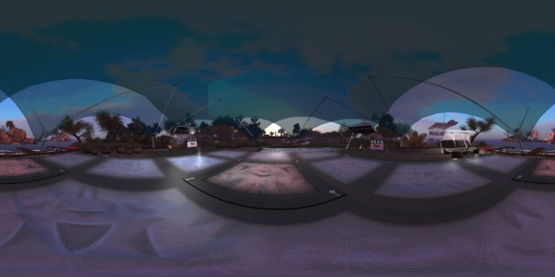A panoramic image of Holly Kai Park's pavilion, captured in the news 360-degree snapshot viewer - see below