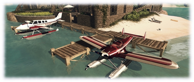 The Aerohawk at home, alongside Caitlyn's Baron