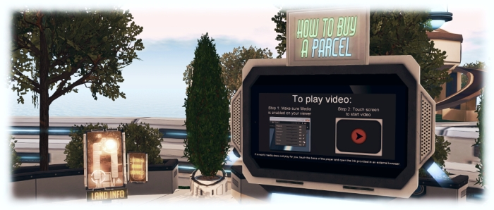 The infohubs include land information kiosks, videos on both obtaining a parcel in Horizons and on how to play the Horizons Experience, together with links to the Horizons wiki page