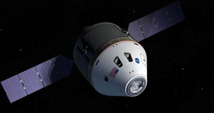 The Orion CEV and Service Module, as originally conceived. Credit: NASA