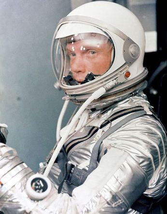 Glenn preparing for his orbital flight, February, 1962. Credit: NASA