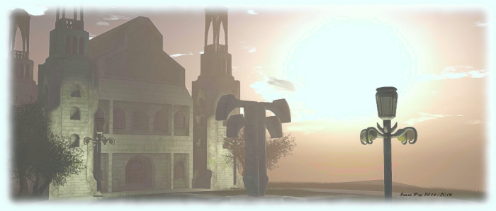 The citadel at the top of Hope's Horizon, built by Jaimy for the 2014 Fantasy Faire, and in memory of her late father
